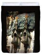 Haunted Birdhouse Duvet Cover