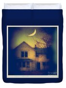 Haunted House Duvet Cover by Jill Battaglia