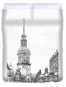 Hausmannsturm In Dresden Germany Duvet Cover by Christine Till