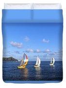 Hawaii Sailboats Duvet Cover
