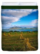 Hay Bales In A Field, Ireland Duvet Cover