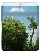 Hayrake In The Woods Duvet Cover
