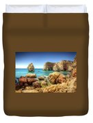 Hdr Rocky Coast Duvet Cover