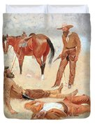 He Lay Where He Had Been Jerked Still As A Log  Duvet Cover