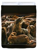 Heads Above The Rest Duvet Cover