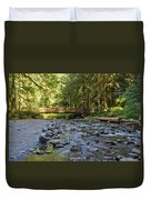 Hear The Rush Of Water II Duvet Cover