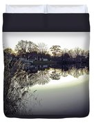 Hearns Pond Reflection Duvet Cover