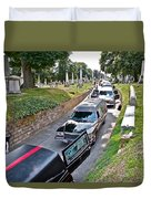 Hearses At Laurel Hill Cemetery Duvet Cover