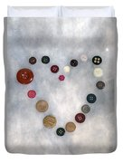 Heart Of Buttons Duvet Cover