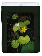 Heart-shaped Water Lily Duvet Cover