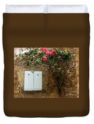 Heart Shutters And Red Roses Duvet Cover