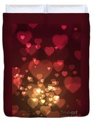 Hearts Background Duvet Cover