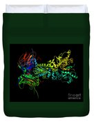 Heat Shock Protein 90 In A Larger Duvet Cover by Ted Kinsman