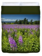 Hedge Woundwort Flower Blossoms And Field Duvet Cover
