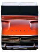 Hemi Orange 1971 Dodge Challenger Duvet Cover