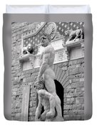 Hercules And Cacus Duvet Cover