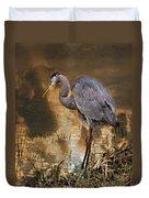 Heron Bronze Duvet Cover