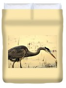 Heron Fishing Duvet Cover