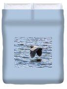 Heron Over Water Duvet Cover