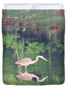 Heron Reflections1 Duvet Cover