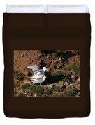 Herring Gulls Mating Duvet Cover