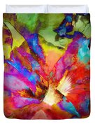 Hibiscus Abstract Duvet Cover