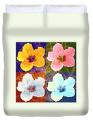 Hibiscus Blooming Duvet Cover