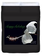 Hibiscus Holiday Card Duvet Cover