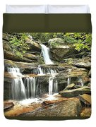 Hidden Falls At Hanging Rock Duvet Cover