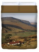 High Angle View Of A House, County Duvet Cover
