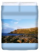 High Angle View Of Rocks, Giants Duvet Cover