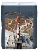 High-angle View Of The Apollo 10 Space Duvet Cover