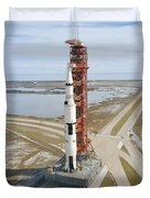 High Angle View  Of The Apollo 14 Space Duvet Cover