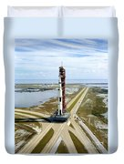 High Angle View  Of The Apollo 14space Duvet Cover