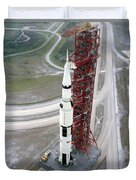 High Angle View  Of The Apollo 15 Space Duvet Cover