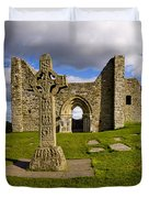 High Cross At Clonmacnoise, County Duvet Cover