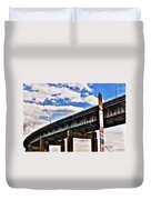High In The Skyway Duvet Cover