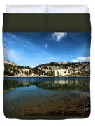 High Mountain Paradise Duvet Cover