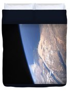 High Oblique Scene Looking Duvet Cover