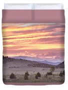 High Park Fire Larimer County Colorado At Sunset Duvet Cover