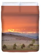 High Park Wildfire At Sunset Duvet Cover