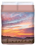 High Park Wildfire Sunset Sky Duvet Cover