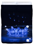 High-speed Flash Photograph Liquid Coronet. Duvet Cover