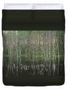 High Waters In A Forest Of Evergreens Duvet Cover