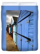 Highcliffe Beach Huts Duvet Cover
