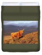Highland Cattle Landscape Duvet Cover