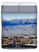 Highway 52 End Of The Line Duvet Cover