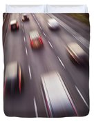 Highway Traffic In Motion Duvet Cover