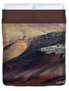 Hiking In The Painted Hills Duvet Cover