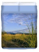 Hills Loom In The Distance Duvet Cover